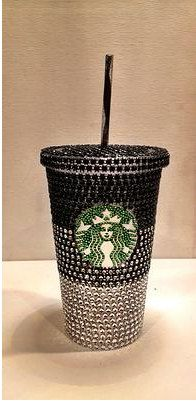 WOW! Titi wants! And it's affordable! Crystal Ombre Starbucks Cold Cup by TheFawnDoe on Etsy, $33.00