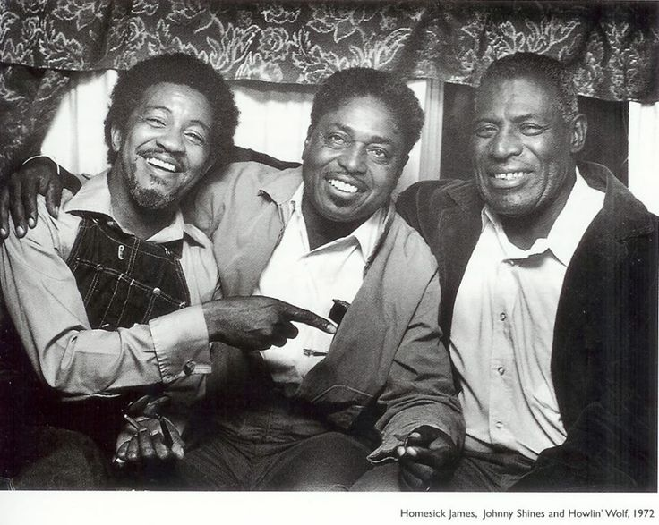 Homesick James, Johnny Shines and Howling Wolf.....1972