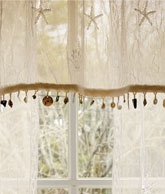 """Seaside Lace Trimmed Valance"" (Country Curtains)"