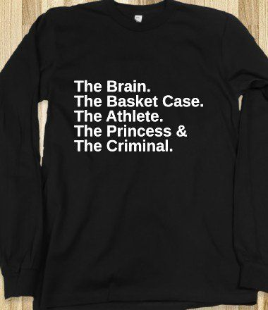 I literally need this The Breakfast Club shirt. Like now.I already have a short sleeve one but I want a big comfy sweatshirt.