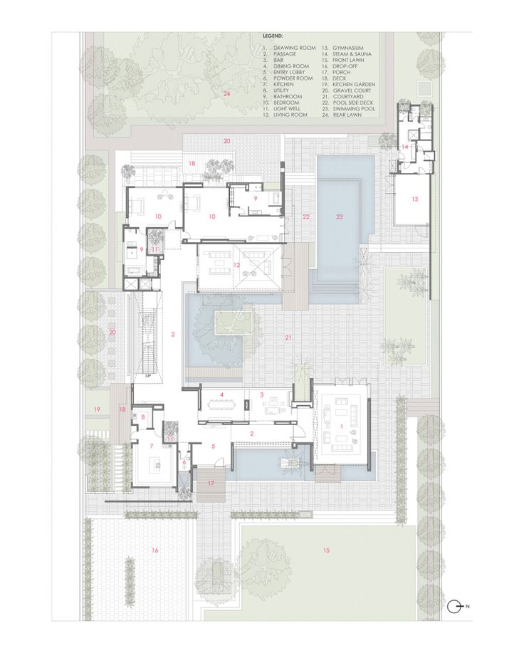 Gallery Of Three Trees House / DADA U0026 Partners   22. Contemporary HousesArchitectural  DrawingsFloor ...