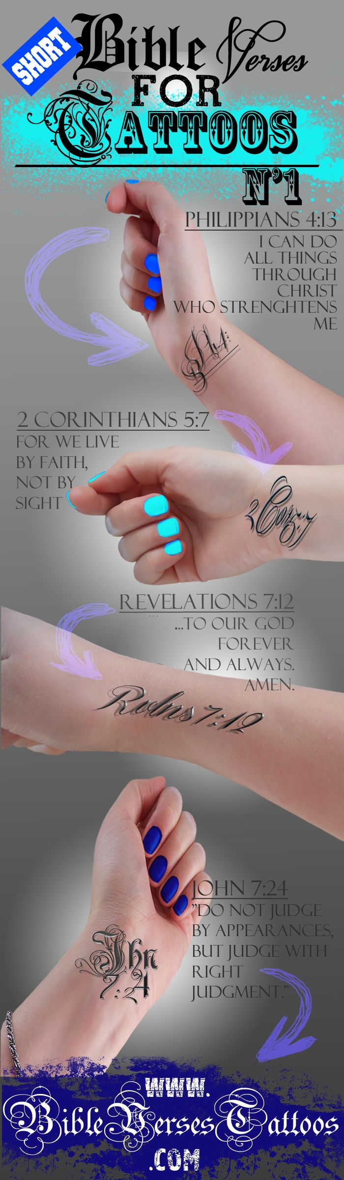 Common bible verses for tattoos.. I'll probably see lots of these