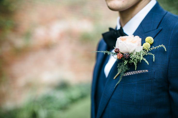 Autumnal Buttonhole - www.theflowermilldraycott.co.uk
