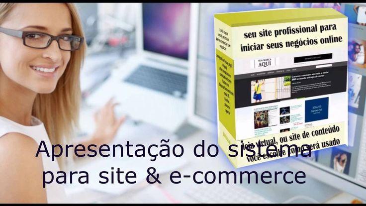 aprsentação do Site Completo Dinâmico & E-commerce Com Area Administrativa