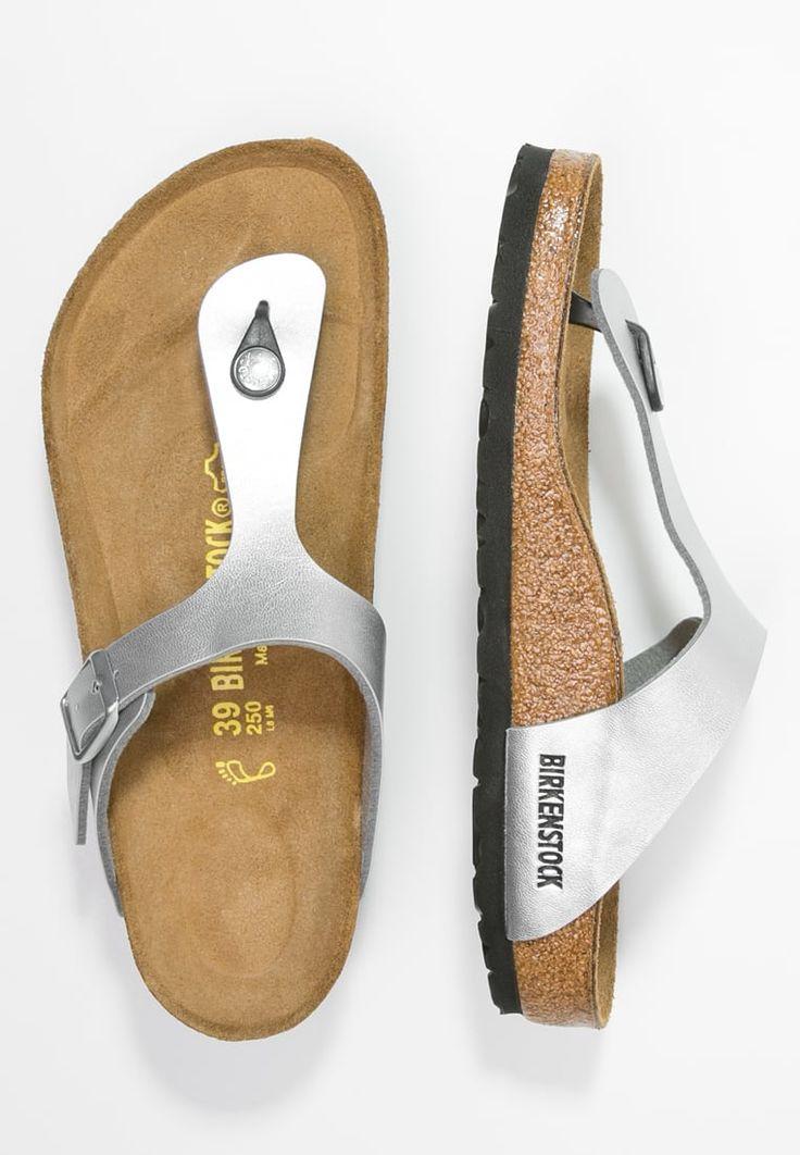 Der angesagte Metallic Look macht auch vor Pantoletten keinen Halt. Birkenstock GIZEH - Zehentrenner - silver für € 49,95 (12.04.16) versandkostenfrei bei Zalando.at bestellen.