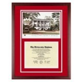 University of Alabama Diploma Frame with UA Lithograph Art PrintBy Old School Diploma Frame Co.
