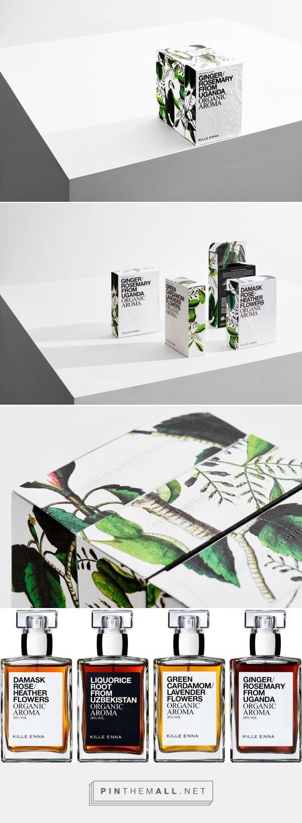 Organic aroma packaging / The Taste of a Scent via homework curated by Packaging Diva PD. Mesmerising scent and flavour moments for water made exclusively from raw plant materials.