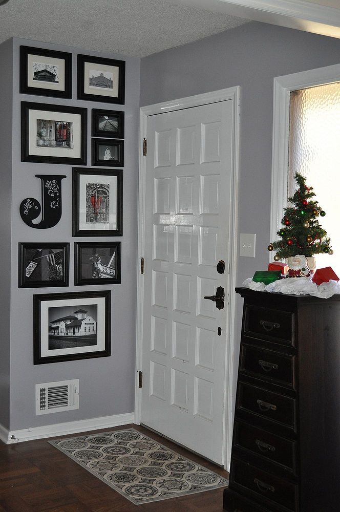 """Updated with new wall color ....  Sparrow"""" by Behr from Home Depot"""