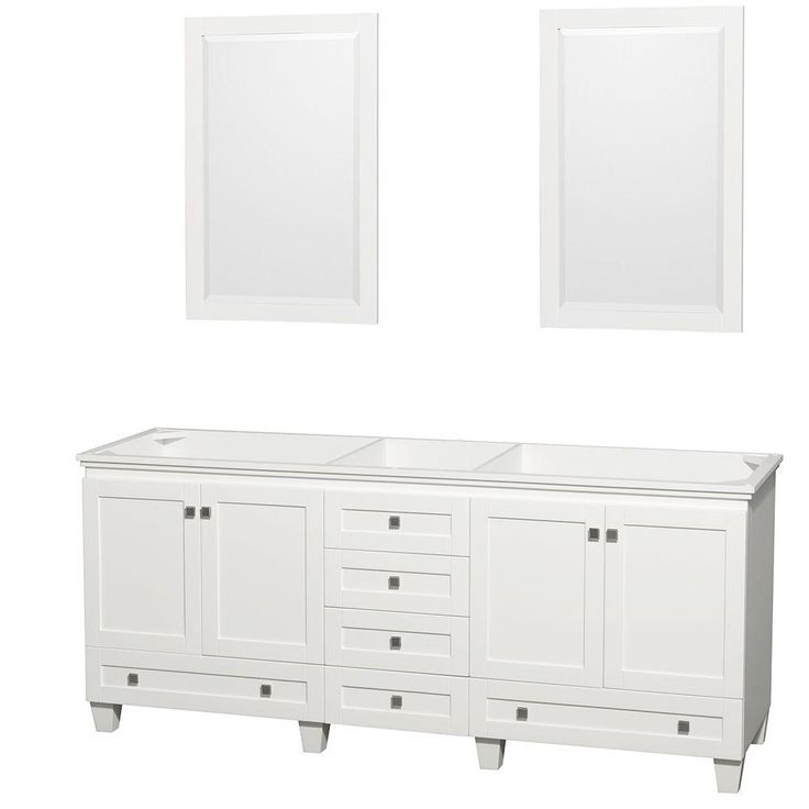 The Art Gallery Wyndham Collection Acclaim in Double Vanity with Mirrors in White WCVDWHCXSXXM