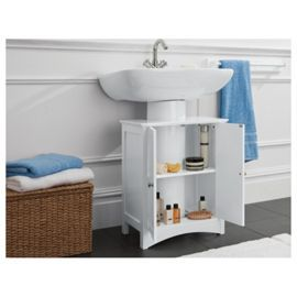 bathroom cabinets tesco direct. buy southwold under sink storage unit, white from our bathroom standing cabinets \u0026 range - tesco direct