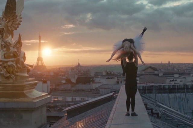 Members of the Ballet de l'Opéra de Paris on a Rooftop .... breathtaking!