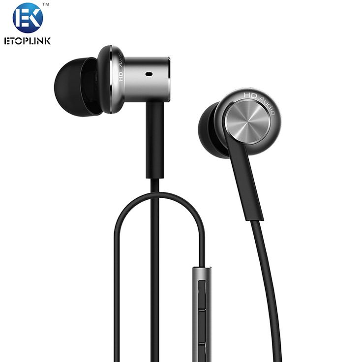 Xiao Mi Design Dual Driver Headphone 3.5mm In-Ear Metal Super Bass Headset With Mic Double Circle HIFI In Ear Earphone For MP3