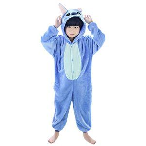 SMITHROA Ensemble de Pyjama Enfant Combinaison Animal Cosplay Déguisement Halloween Costume Onesie Fille Garçon Flanelle Carvanal