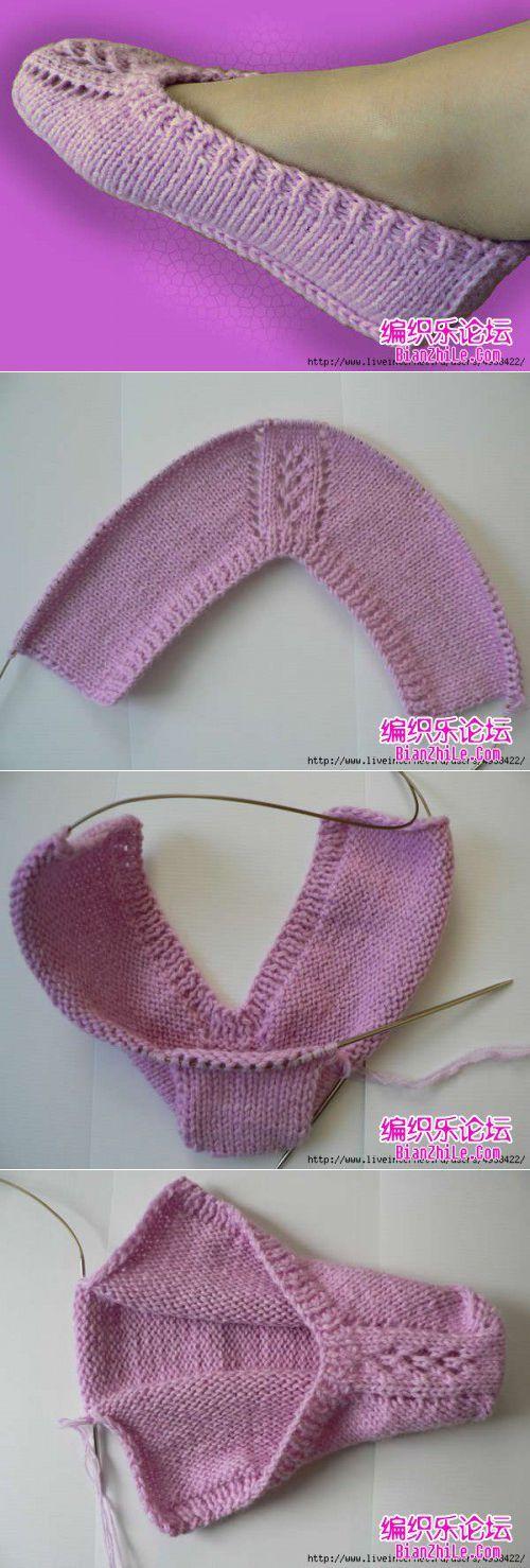 [Knitting] floor socks --- pretty good weave, detailed tutorial - weave music forum