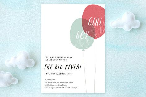 Balloon Reveal Baby Shower Invitations by Stacey Meacham at minted.com
