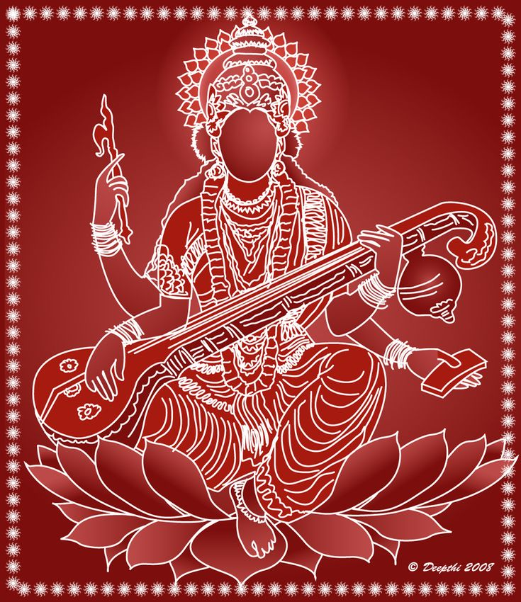 Saraswati is the Hindu goddess of knowledge, music and all the creative arts.