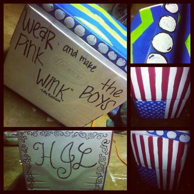painted ice chest I did!