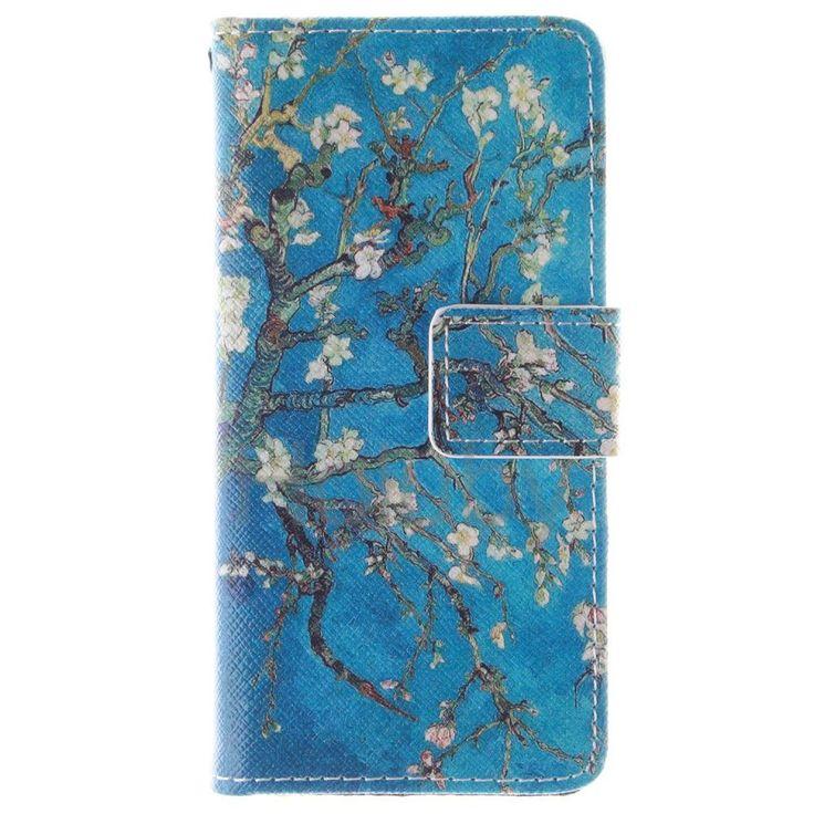 Quermuster Wallet Magnetic Schlag-Standplatz TPU   PU-Leder Tasche für iPhone 5S 5 Aprikosenbaum