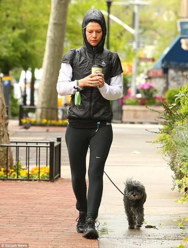 Weegee the Schnoodle with Claire Danes in NYC | Daily Mail Online