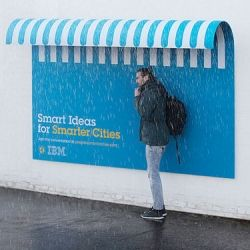 """Playful ad campaign from Ogilvy & Mather France for IBM. Posters with purposes as part of their """"People For Smarter Cities"""" campaign."""