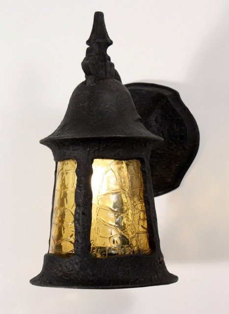Superb antique english tudor exterior lantern sconce - Early american exterior lighting ...