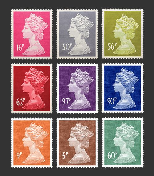 I have the purple stamp and the brown stamp.  :)  queen. #british, #queenelizabeth