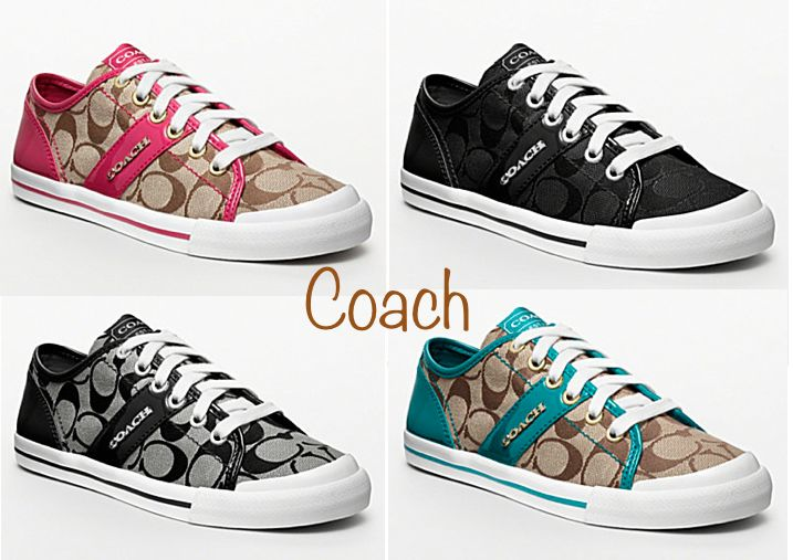 Coach Tennis Shoes :)   I am going to get a pair in the Spring! Sooo cute!