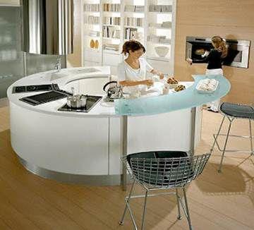 Las 25 mejores ideas sobre isla de cocina redonda en for Cocinas integrales redondas