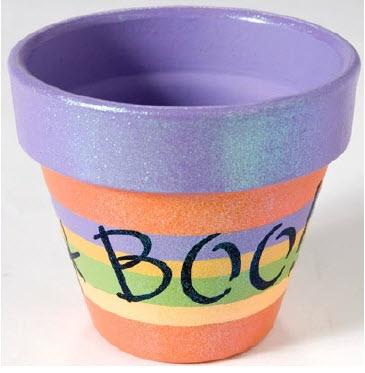 Plaid® Halloween BOO Pot #claypot #craft #halloween