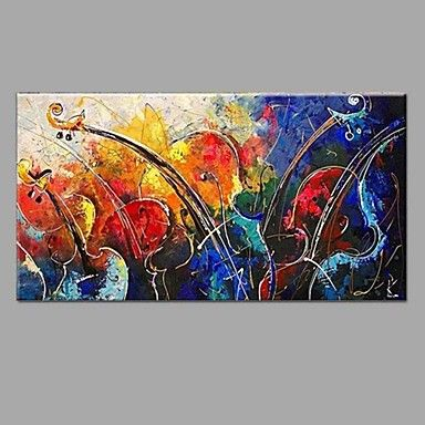Handmade Oil Painting Abstract Music violin with Wall Art Home Decor Stretched Framed Ready To Hang SIZE50*100cm 5734466 2017 – $75.19