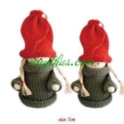 Christmas Decorations Girl Dolls-Navy Cloth