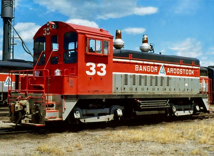 Bangor & Aroostook Railroad, EMD SW9 diesel-electric switcher locomotive in Bangor, Maine, USA
