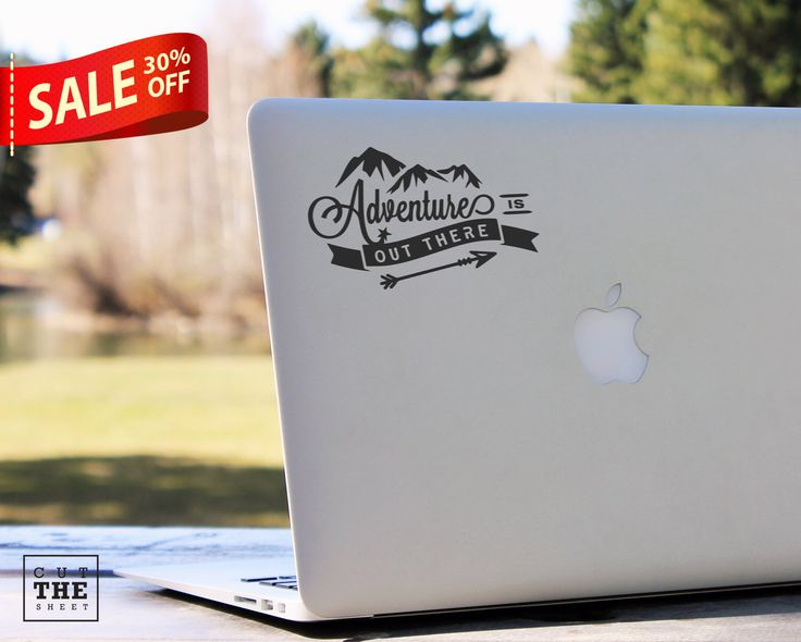 Adventure is out there - Laptop Decal - Laptop Sticker - Macbook Decal - Car Decal - Bumper Sticker - Adventure Decal - Mountains Decal by Cutthesheet on Etsy https://www.etsy.com/listing/238559352/adventure-is-out-there-laptop-decal