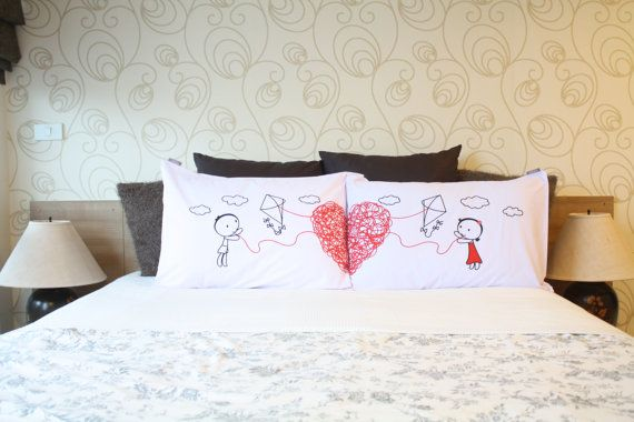 Couples pillow cases His&Her Couple Pillow cover por UsagiMijo