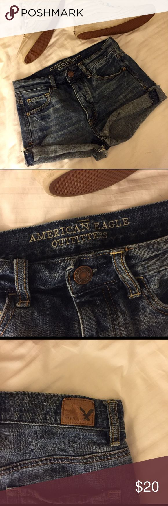 American Eagle shorts! The American Eagle shorts are like new. They are used but have no stains! They are a great pair of shorts! American Eagle Outfitters Shorts Jean Shorts