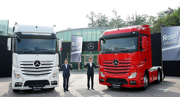 다임러 트럭 코리아, 새로운 효율 개념 '로드 이피션시(Road Efficiency)' 발표 :: 다나와 DPG