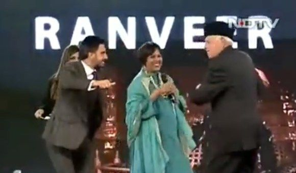 @RanveerOfficial  and #FarooqAbdullah in a #dance #FaceOff   http://www.9hues.com/ranveer-singh-and-farooq-abdullah/  #NDTV #IndianOfTheYear