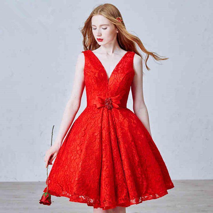 Красные гипюровые платья короткие