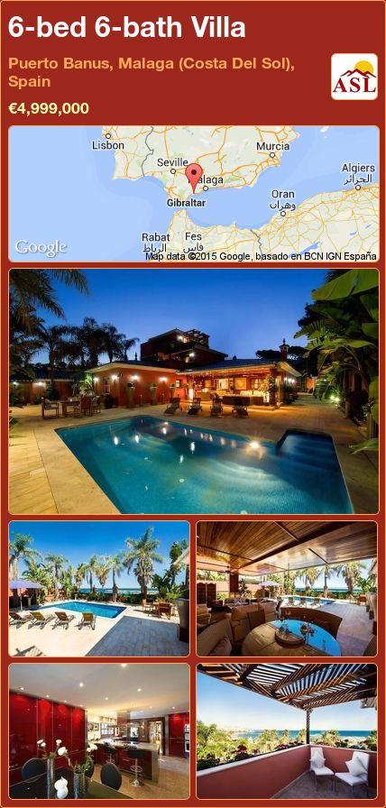 6-bed 6-bath Villa in Puerto Banus, Malaga (Costa Del Sol), Spain ►€4,999,000 #PropertyForSaleInSpain
