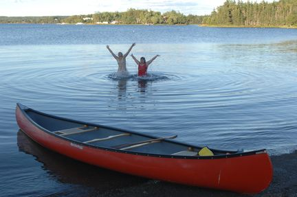 Paddle in the Mira River, Cape Breton. Longest waterway in Nova Scotia