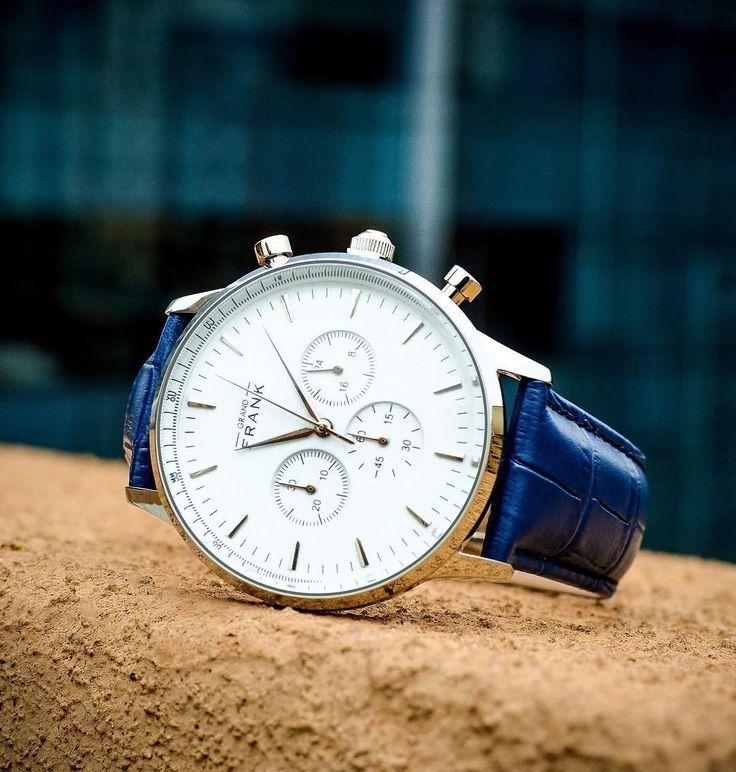 The Montpellier white chronograph. #grandfrankwatches  www.Grandfrank.com