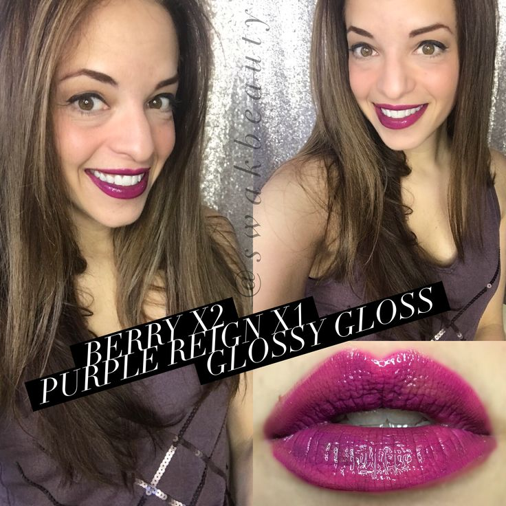 Berry x2 Purple Reign Glossy Gloss LipSense Layering Look! SWAK Beauty facebook.com/swakbeauty @swakbeauty Distributor ID #348931