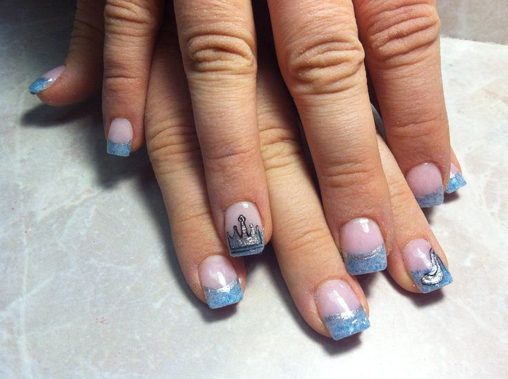 Cinderella nail art. - 25+ Trending Cinderella Nails Ideas On Pinterest Blue Nails With