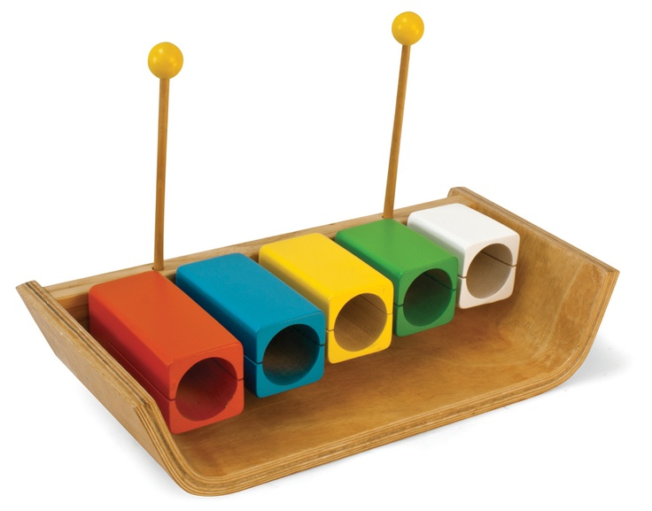Wood Temple Blocks - When struck with a mallet the blocks sound higher or lower depending on their size – the smaller the block the higher the pitch. #green tones® #eco instruments & toys