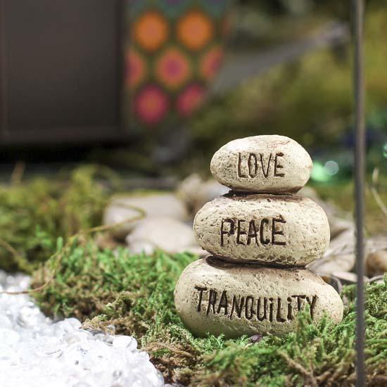 Miniature Zen Rock Statue