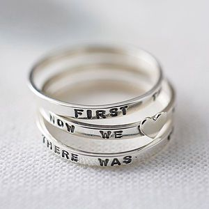 Personalised Fine Silver Stacking Ring - rings