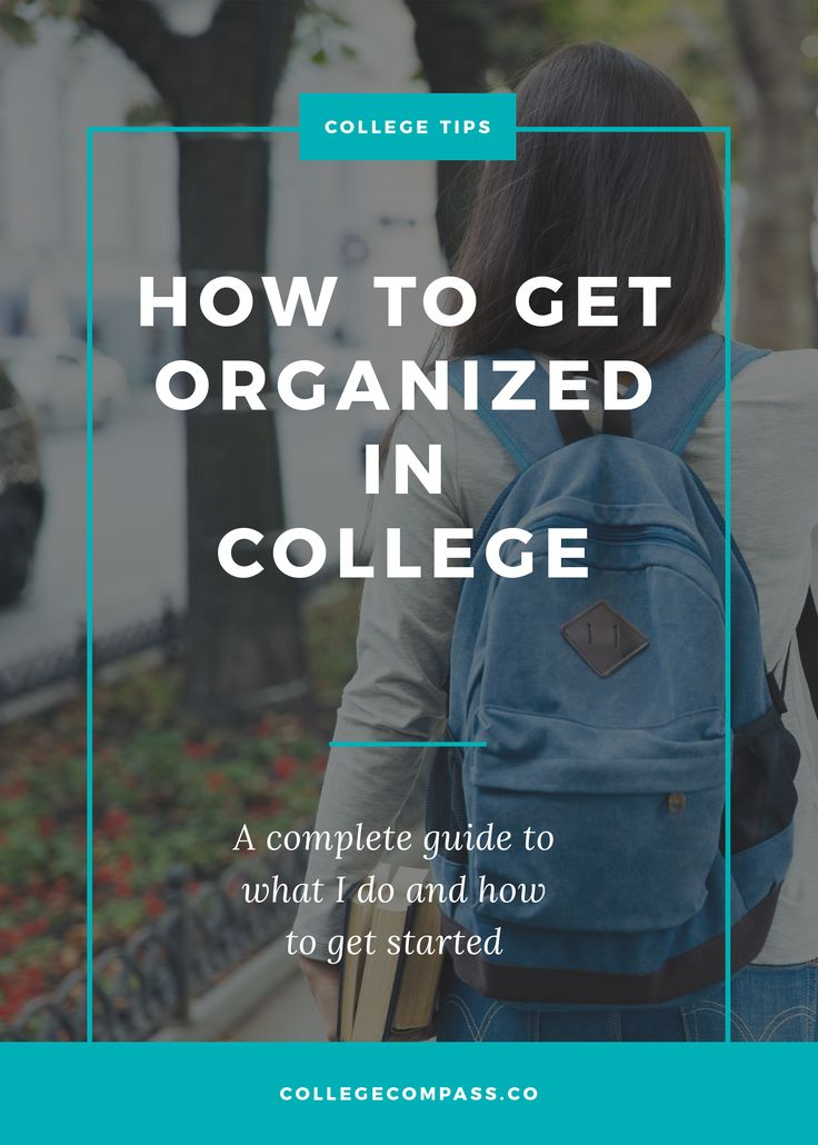 The UPDATED and expanded version of the most popular college organization post on Pinterest! Learn how to organize your college life here. Save this pin and click through to read. | College Compass via @collegecompassc