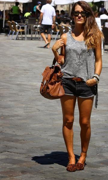 Look Cinza + Slipper - Moda it   Moda It