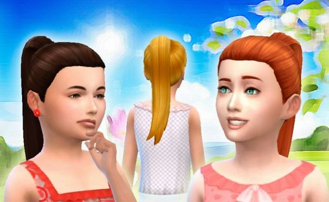 Pony Tail Tight for Girls at My Stuff via Sims 4 Updates