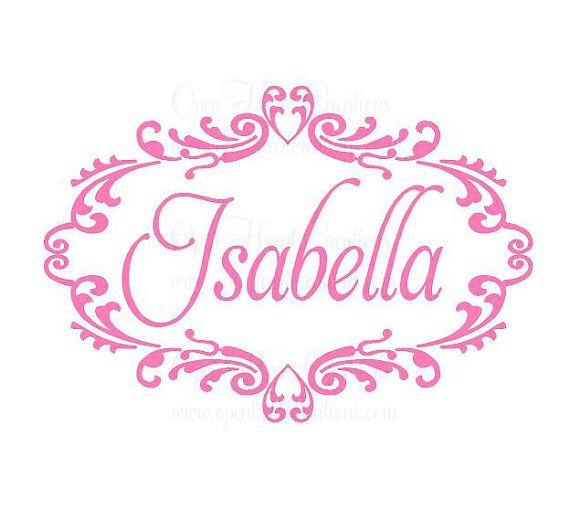 Extra Large Name Vinyl Wall Decal Baby By Openheartcreations For